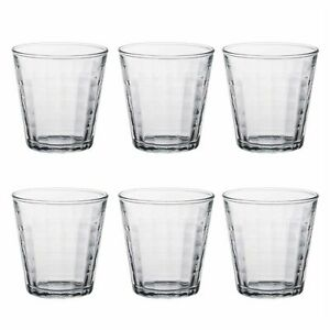 Duralex Prisme Jugo Vasos de agua juego de Gafas de cristal clara 220ml x6/22cl