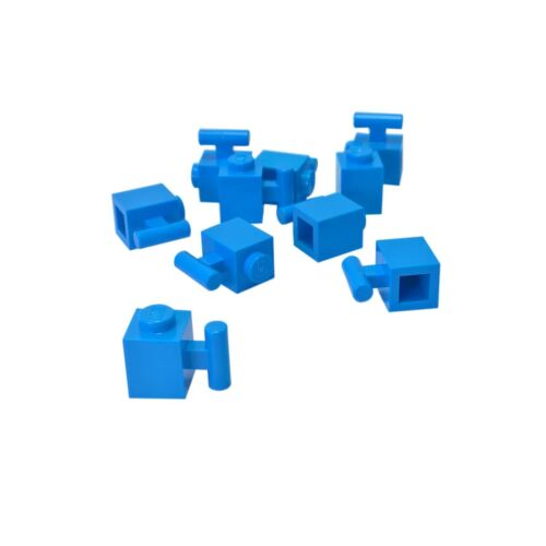 modificado 1 X 1 con Mango Dark Azure 10 Nuevo Lego ladrillo