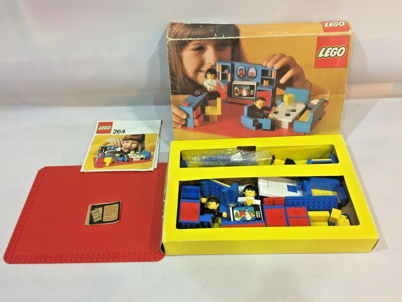 Vintage 1970s Lego Boxed Set  264 264 264  Living Room With 2 Figures da10fb