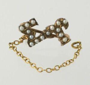 Sigma-Upsilon-Vintage-14k-Gold-Chapter-Guard-Pin-Greek-fraternity-sorority
