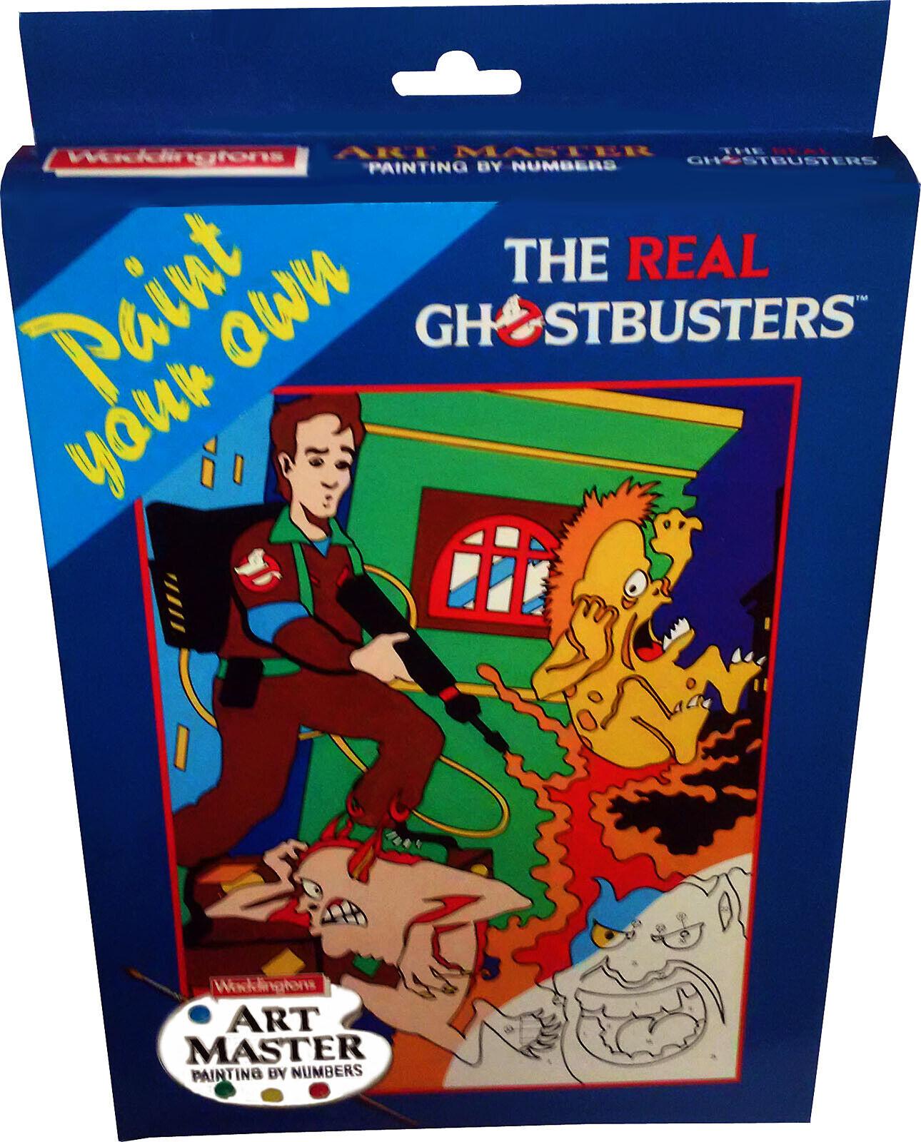 The Real Ghostbusters-Peinture par numéros-Vintage 1988 neuf  Comme neuf in box Comme neuf IN BOX