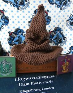 Details about New Harry Potter Crochet Sorting Hat Handmade Various Sizes  Great Gift d65fe91a5e2
