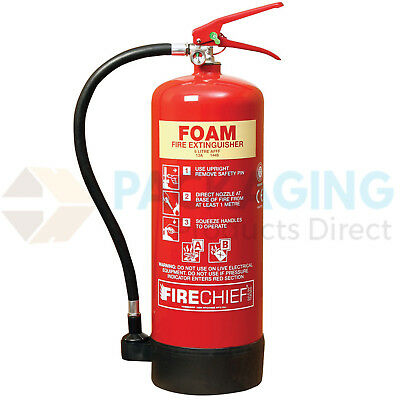 "FOAM FIRE EXTINGUISHER ""6LTR"" CE MARKED INCLUDING BRACKET FAST DELIVERY"