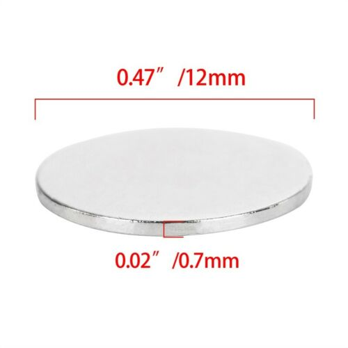 """12*1mm 0.47/""""x0.04/"""" Strong Round N50 Magnets Rare Earth Cylinder Fridge Craft"""