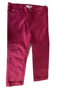 Gentle Girls Size 6 Cuffed Pink Pants With Pockets