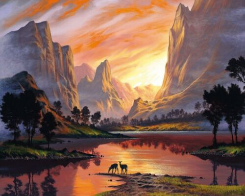 Yosemite Park Sunset Sunset Collection - Van-Go Paint-By-Number Kit 58