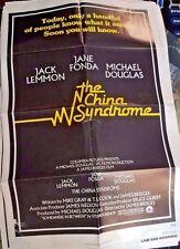 "The China Syndrome Jane Fonda Michael Douglas Movie Poster Folded 40""x27"""