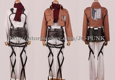 *JCPUNK*Attack on Titan Shingeki no Kyojin Mikasa Ackerman Cosplay Full Costume