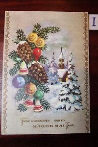 Mon ChéRi Carte Postale Vue Carte Motifs Félicitations Bonne Année-afficher Le Titre D'origine TrèS Poli