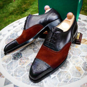 Handmade Two tone Oxford Shoes, Men