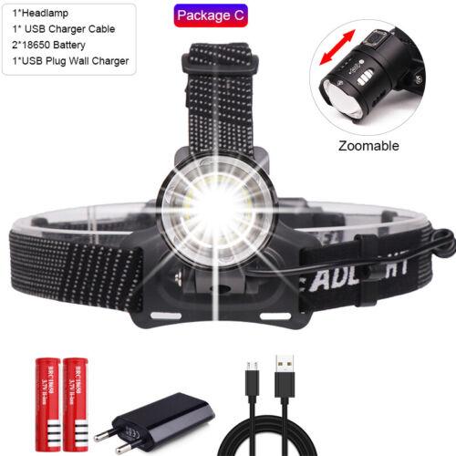 80000LM xhp50 V6 Led Headlamp Super Bright headlight Lamp Flashlight Torch Light
