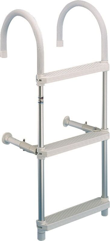 Badeleiter zum Überhängen Stiefelleiter Leiter 3 4 5 Stufen wählbar Stiefel Bügel