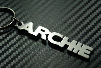 ARCHIE Personalised Name Keyring Keychain Key Fob Bespoke Stainless Steel Gift