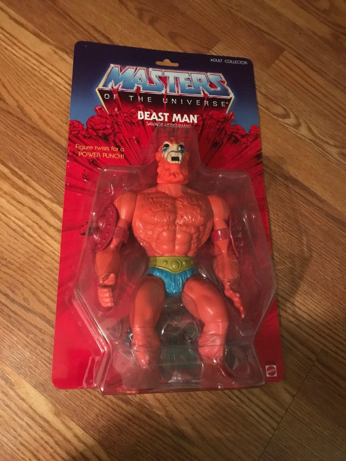 Lot de 2 2014 He-man Masters of the Universe géants 12  pouces Beast Man & Stratos FIGURE NEW