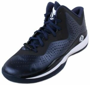 Adidas-D-Rose-773-III-Mens-Navy-Black-White-Basketball-Shoes-Size-10-5