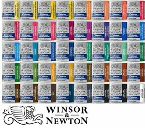 40-Farbtoene-Aquarellfarbe-WINSOR-amp-NEWTON-Cotman-halbe-Naepfe-freie-Farbwahl