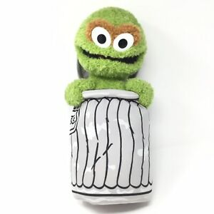 Details About Rare Sesame Street Oscar The Grouch Stuffed Animal Plush Green Trash Can Lid