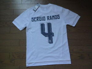 Real Madrid  4 Sergio Ramos 100% Original Jersey 2015 16 Home ... 6b7fdb223