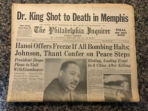 Martin Luther King Jr Shot To Death 1968 Philadelphia ...