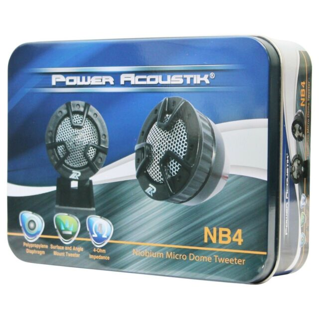 "2) NEW POWER ACOUSTIK NB-4 250 WATT 1"" 4 Way Mount Car Dome Super Tweeters NB4"