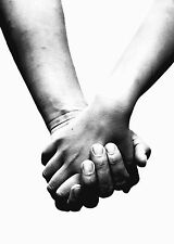 Framed Print - Loving Couple Holding Hands (Picture Poster Romance Love Art)