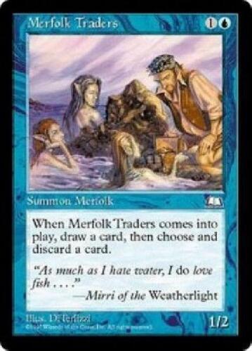 8x Merfolk Traders NM MTG Weatherlight WE Magic Gathering
