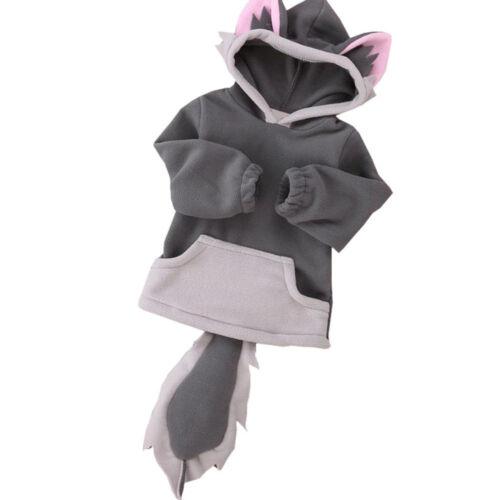 Children Cartoon Design Baby Hooded Boy Girl Jacket Outwear Kids Party Clothing
