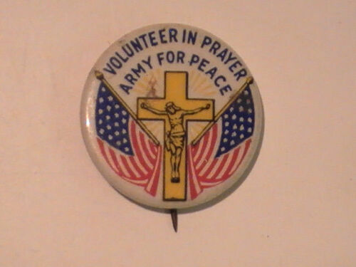 1940 Volunteer Prayer Army Peace Our Lady Queen of Peace Confraternity Pin