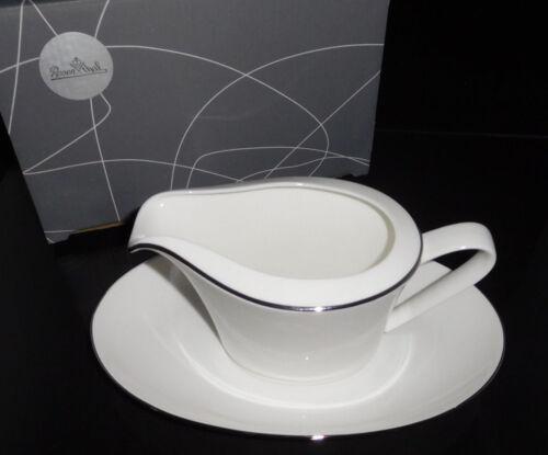 Rosenthal Curve Silver Curve Bone China Premium Sauciere 2 tlg. Neu & Ovp 1.Wahl