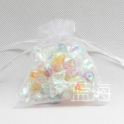 100 LUXURY ORGANZA WEDDING FAVOUR CHRISTMAS GIFT BAGS JEWELLRY POUCHES 18 COLORS