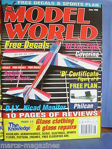 RCMW-RC-MODEL-WORLD-JUNE-1999-PHILCAN-PLAN-FAIRCHILD-PT19