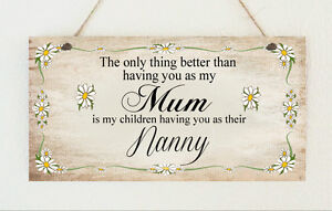 Image Is Loading Personalised Plaque No1 Mum Nanny Grandma Mothers Day