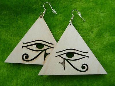 Natural wooden earrings kit various African Adinkra symbols laser cut crafts