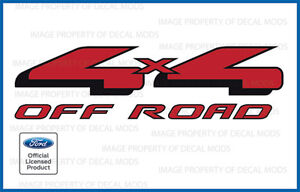 2004-2008 Ford 4x4 Off Road Decals Stickers set truck bed side offroad FR