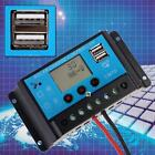 10A 12/24V Autoswitch LCD Solar Panel Battery Regulator Charge Controller USB BA