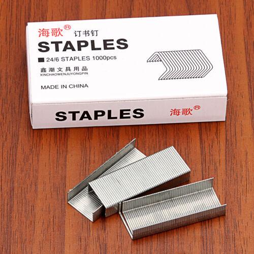 Staples Silver Steel Staples For Office Stapler—1000PCS//Box No.12 24//6