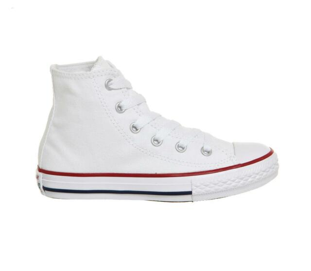 a3d8452204ee Converse Junior White Chuck Taylor Hi Trainers Size 1 - 13 UK 2 for ...