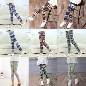 Christmas-Children-Trousers-Printing-Legging-Flower-Print-Baby-Girls-Pencil-Pant