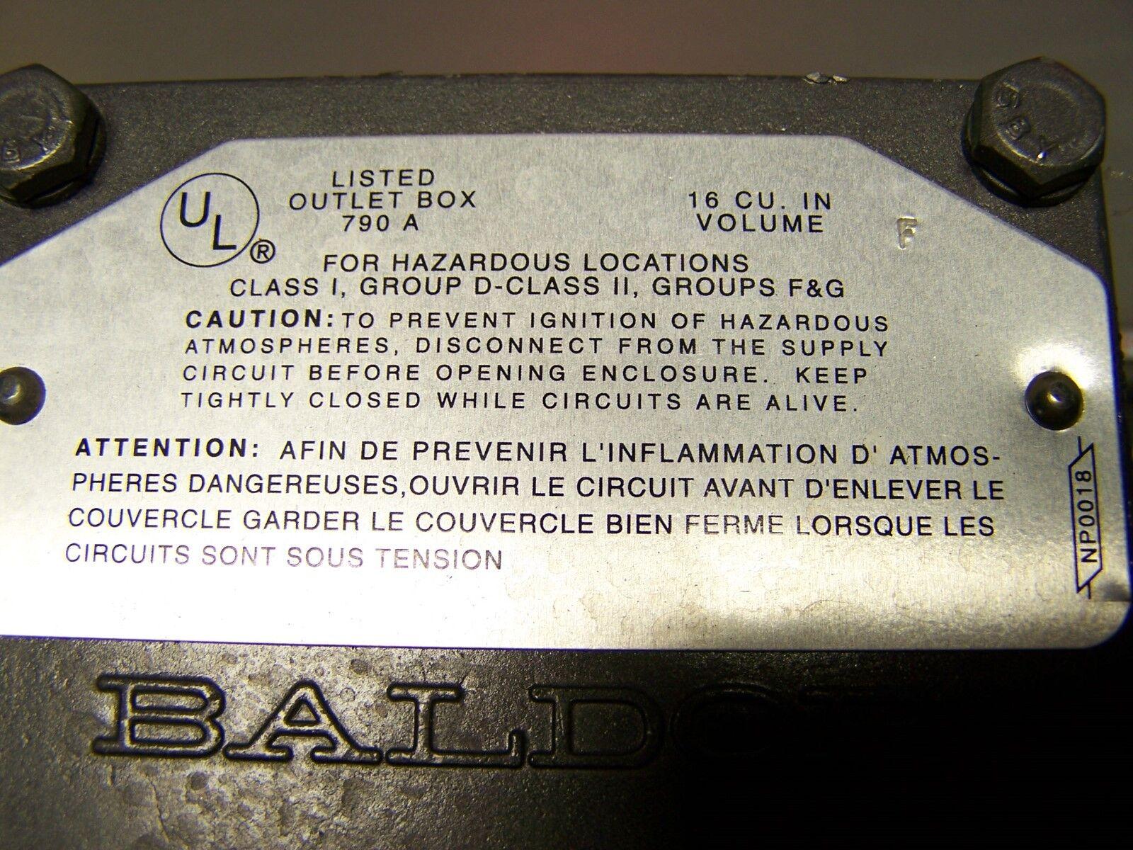 MOT3714 NEW Baldor 1HP 35M782-527 56C Frame Single Ph Hazardous Location Motor