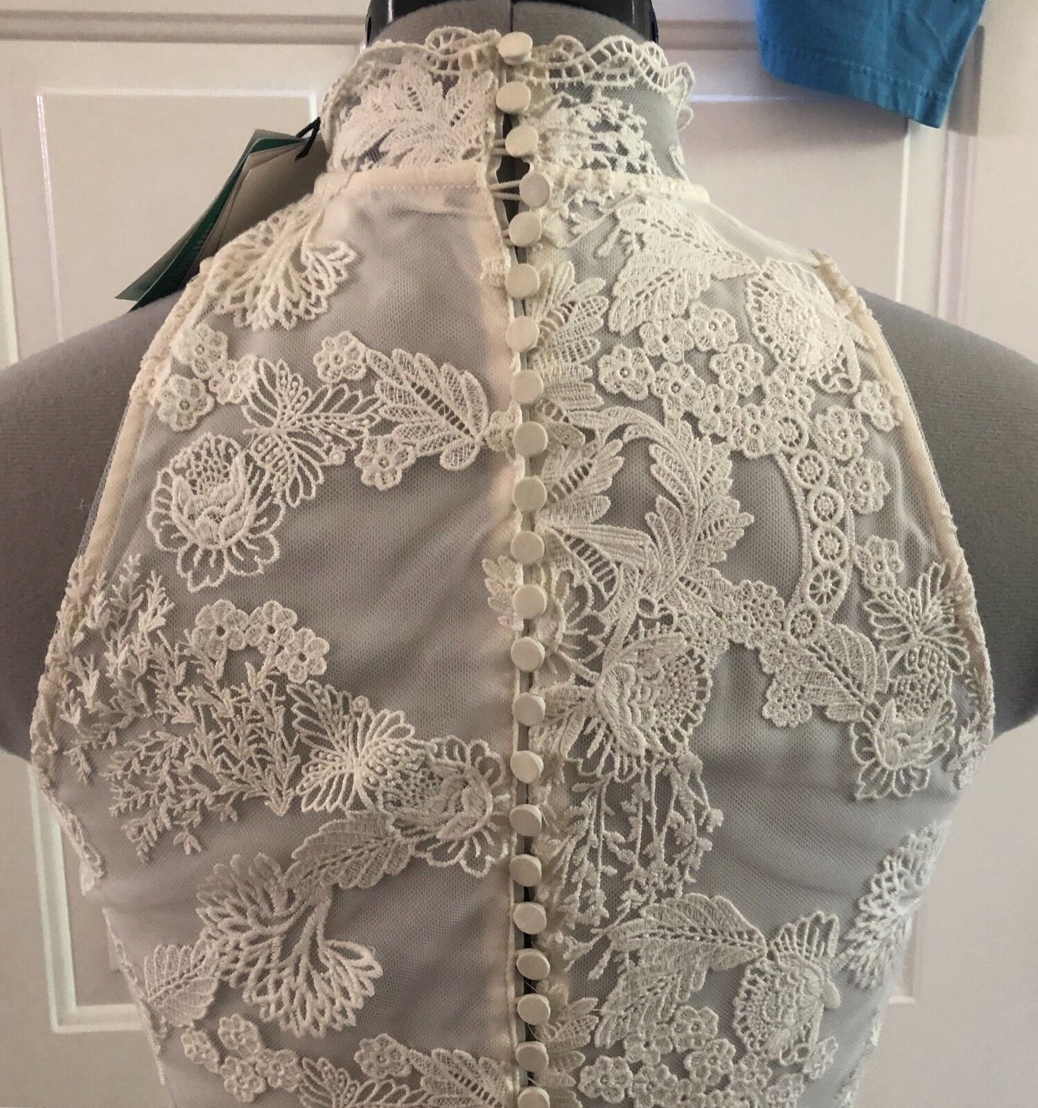 H & M M M 2018 Wedding Collection Ivory Lace Dress XS 2 Fit   Flare Sleeveless  NWT a6e69f