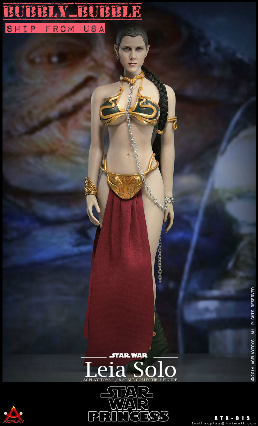 1/6 Star Wars Princess Leia Organa Head Slave Outfit Set For Hot Toys PHICEN USA
