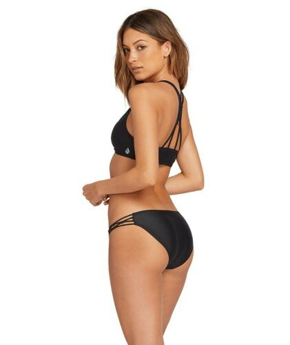 Volcom Simply Solid Full Bikini Hose Black Damen Frauen Bikini Unterteil VOLCOM