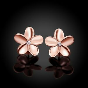 Image Is Loading New Arrival Lovely Rose Gold Plated Flower Shaped