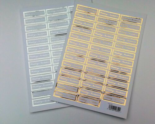 Die Cut Wedding Invitation Words Sentiments Banners Captions Gold or Silver