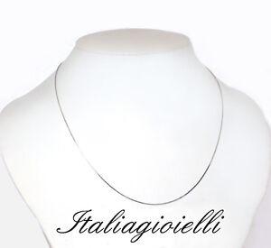 Collana-Catenina-Veneziana-45-cm-Uomo-Donna-in-Argento-925-rodiato-Oro-Bianco