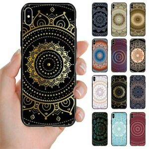 For Samsung Galaxy Note Series - Mandala Pattern Print Mobile Phone Back Case