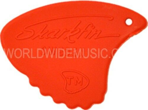 6 Genuine Landstrom Sharkfin Guitar Picks with choice of Colour Gauge