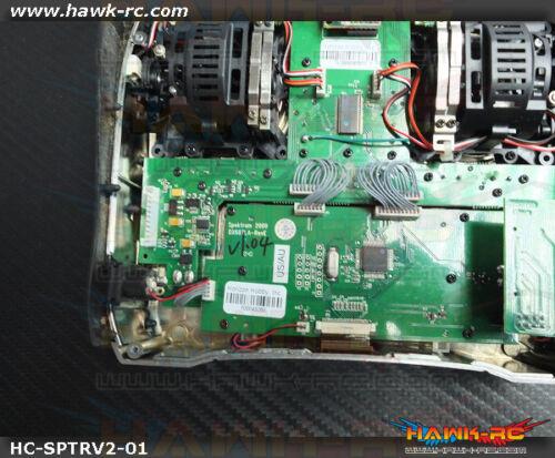 Hawk Creation CNC Métal Rouleau Bouton pour Spektrum DX6i,7S,8,9 Argent