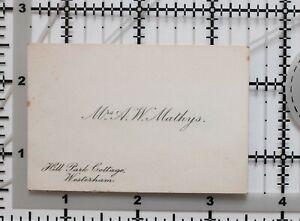 Antique-Calling-Card-Mme-A-Avec-Mathys-Park-Cottage-Westerham