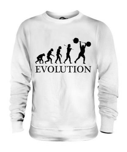 WEIGHTLIFTER EVOLUTION OF MAN UNISEX SWEATER  Herren Damenschuhe GIFT WEIGHTLIFTING